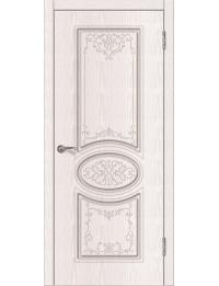 Доступные двери модель Патрисия ПГ  ПВХ (ясень белый)