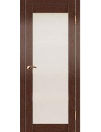 Доступные двери модель Токио 2 ПО ПВХ (венге) белый триплекс