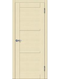 Доступные двери модель Токио 3 ПГ ПВХ (кедр бежевый) белый триплекс
