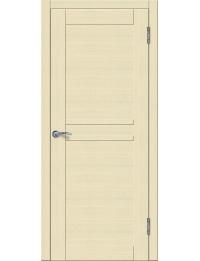 Доступные двери модель Токио 4 ПГ ПВХ (кедр бежевый) белый триплекс