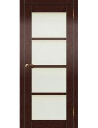 Доступные двери модель Токио  ПО ПВХ (венге) белый триплекс