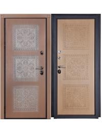 Дверь Входная Флоренция Внешняя отделка:  объемная фрезерованная панель «ФЛОРЕНЦИЯ» из влагостойкой МДФ (пр-во Бельгия) 16мм, цвет «Дуб» с патиной серебро + лаковое покрытие, тип пленки – «VINORIT» (пр-во Израиль) с фрезерованными наличниками