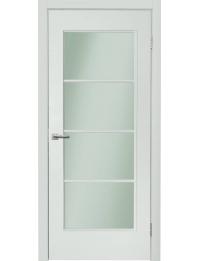 Межкомнатная дверь NEO 196 остекленная эмаль белая