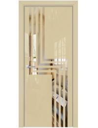 Межкомнатная дверь Alum Скрытые Арт стекло цвет RAL 1015 Lacobel по зеркалу, Рисунок рисунок 1