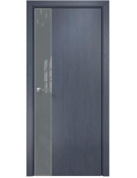 Межкомнатная дверь Alum Сеул шпон Дуб графит Lacobel RAL7040