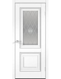 Межкомнатная дверь ALTO 7 СТЕКЛО КРИСТАЛ ЭКОШПОН ЯСЕНЬ БЕЛЫЙ SOFTTOUCH