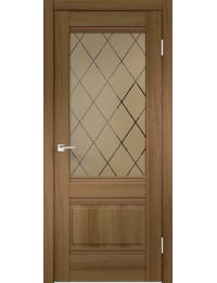 Межкомнатная дверь ALTO 2V ЭКОШПОН ОРЕХ ЗОЛОТОЙ