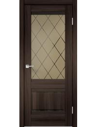 Межкомнатная дверь ALTO 2V ЭКОШПОН ОРЕХ КАШТАН
