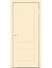 Межкомнатная дверь SCANDI 3P Эмаль слоновая кость без стекла  с врезкой под замок morelli 1895