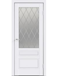 Межкомнатная дверь SCANDI 3V ЭМАЛЬ С СТЕКЛОМ