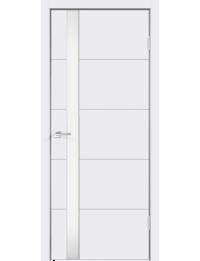 Межкомнатная дверь SCANDI F ЭМАЛЬ RAL9003 LACOBEL БЕЛАЯ