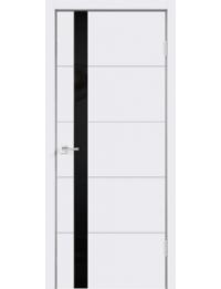 Межкомнатная дверь SCANDI F ЭМАЛЬ RAL9003 LACOBEL ЧЕРНАЯ