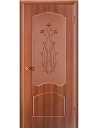 Доступные двери модель Натали ПО ПВХ (золотистый дуб)